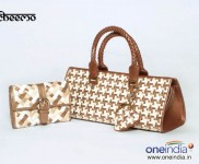 Classic weave wallet -Rs 1295, Triangle Bubbles weave -Rs 3295