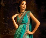 Peacock feather designs Saree