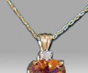 Fire Topaz and Diamond Chain