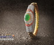 Emerald based Bangle