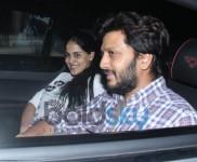 Ritesh Deshmukh And Genelia D'souza Spotted At Light Box