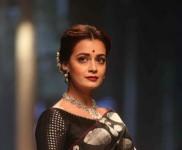 Dia Mirza Walks For Santosh Parekh At Lakme Fashion Week 2016