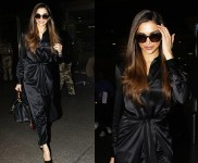 Queen Deepika Padukone In Black Dress Spotted At Airport