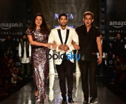 Designer Komal and Rahul Showstopper Prateek Babbar at AIFW 2017