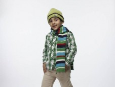 George Boys Casual Shirt & Trouser Teamed with winter cap & muffler Photos