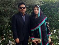A R. Rahman, Saira Banu At Grammy Awards 2013 Photos