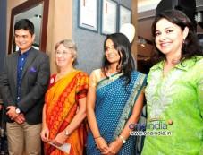 Mrinmoy Mukherjee, Annabel Mehta, Dhun Davar & Anjali Tendulkar at the Raymond Shop Photos