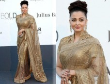 Aishwarya Rai Shines In Gold At Cannes Photos