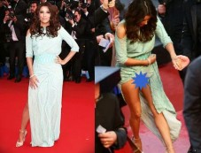 Eva Longoria's Cannes Wardrobe Malfunction Photos