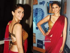 Aditi Rao Hydari In Raakesh Agarvwal Saree Photos