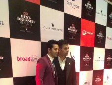 Varun Dhawan and Karan Johar at GQ's Best Dressed Men 2013 Party Photos