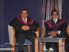 Subhash Ghai and Amitabh Bachchan at 6th Annual Convocation of WWI Photos