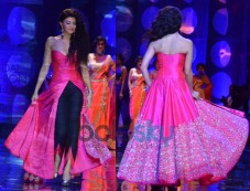 IBFW'13: Jacqueline Fernandez In Fusion Gown Photos