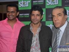 Farhan Akhtar, Eepsita Guha and Siddharth Kannan at the cover launch Star Week Sept 2013 issue Photos