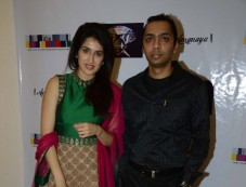 Sagarika Ghatge with Sagar Parikh of SSI at the Sagar Samir International collections Fashion show Photos