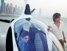 Abhishek Bachchan Inside Gyro Copter At Skydive Dubai Events Photos