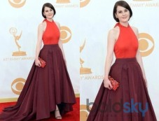 Michelle Dockery, in Prada, arrives at the 65th Primetime Emmy Awards Photos
