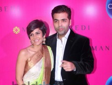 Mandira Bedi with Karan Johar at launche of store Photos