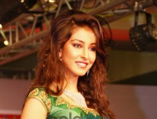 Navneet Dhillon (Femina Miss India) walked the ramp at the Femina Festive Showcase 2013 at R Mall. Photos