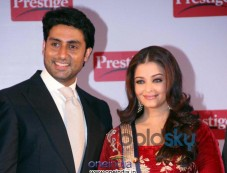 TTK Prestige signs Aishwarya, Abhishek as brand Ambassadors posing camera Photos