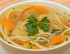 Chicken Noodles and Vegetables Soup Photos