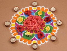 Flowers With Diya Photos