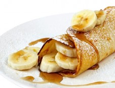 Honey Banana Pancakes For Breakfast Photos