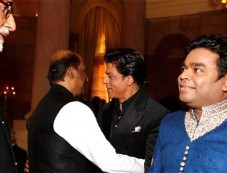 Amirabh Bachchan,Rajinikanth,SRK,Rahman at rashtrapati bhavan auditorium Photos