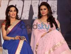 Madhuri Dixit and Huma Qureshi at Music launch of film Dedh Ishqiya Photos