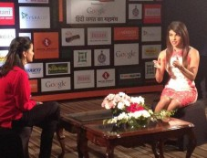 Priyanka Chopra attend the Agenda Aaj Tak program Photos