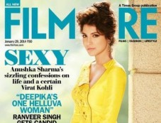 Anushka Sharma on the cover of Filmfare JAN 2014 Photos