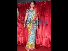 Sonam Kapoor in Printed Saree Photos