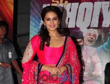 Huma Qureshi in Pink outfit during Dedh Ishqiya Premiere Photos