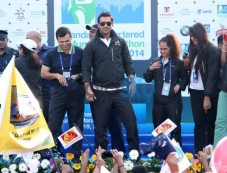 John Abraham during Standard Chartered Mumbai Marathon Photos