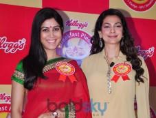Juhi Chawla & Sakshi Tanwar At Kellogg's Event Photos