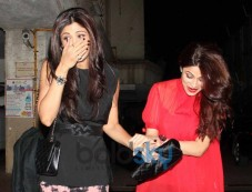 Shilpa,Shamita Shetty at Bipasha Basu 35th Birthday Celebration Photos