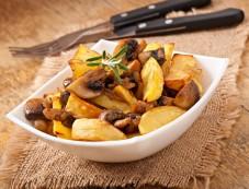 Yummy Mushroom Aloo Fry Recipe Photos