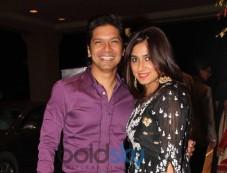 Shaan with wife stuns at Siddarth Kannan Wedding Reception Photos