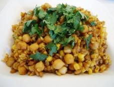 Chickpeas Pulav Recipe Photos