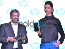 Deepika Padukone at the launch of new HP Slate VoiceTab Photos