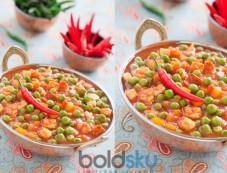Green Peas n Tomatoes Sabji Recipe Photos