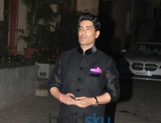 Manish Malhotra at Abhishek Bachchan 38th Birthday Bash Photos