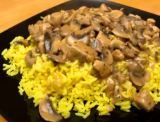 Mushroom Pepper Rice Recipe Photos