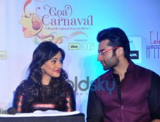 Neha Sharma and Jackie Bhagnani at Announcement of Goa Carnival 2014 Photos