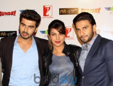 Arjun Priyanka Ranveer during Gunday Promotional Event Photos