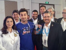 Ranbir Kapoor with Juhi Chawla at Pepsi event Photos