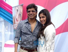 Shaan with wife at Surya Child Care's Hospital Inauguration Photos