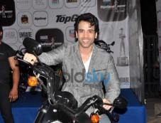 Tushar Kapoor on bike during Top Gear Awards Photos
