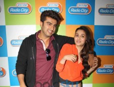 Arjun Kapoor and Alia Bhatt during 2 states promotion Photos