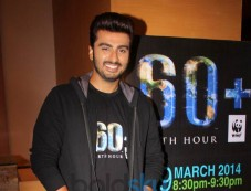 Arjun Kapoor endorses Earth Hour 2014 Photos